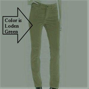 """NYDJ Corduroy """"Leggings"""" Tummy Control Green"""